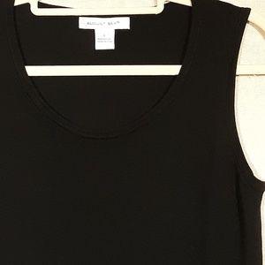 august silk Tops - August Silk Large Black Tank Silk Blend Washable